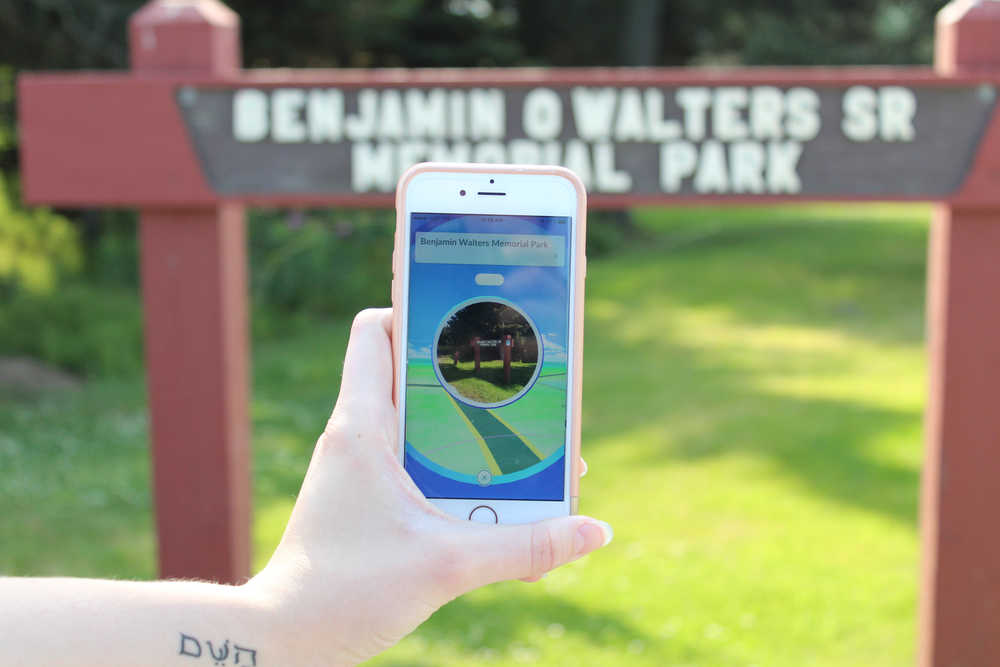 Ben Walters Memorial Park's sign is the location of a Pokestop in the newly launched game Pokemon Go. To collect items from a Pokestop, players must be within a small physical location surrounding the GPS marked Pokestop.