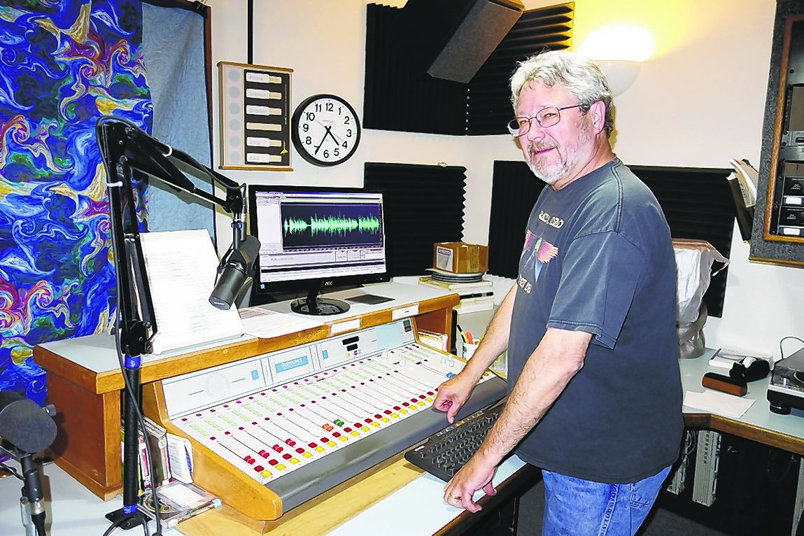 KBBI's General Manager Dave Anderson displays the public radio station's master control boards, which are out of date and in dire need of replacement. The station is hoping to raise $12,000 by the end of June to buy new equipment.
