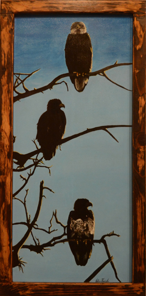 """Tomich's """"Eagle Tree"""" is one of her door paintings."""