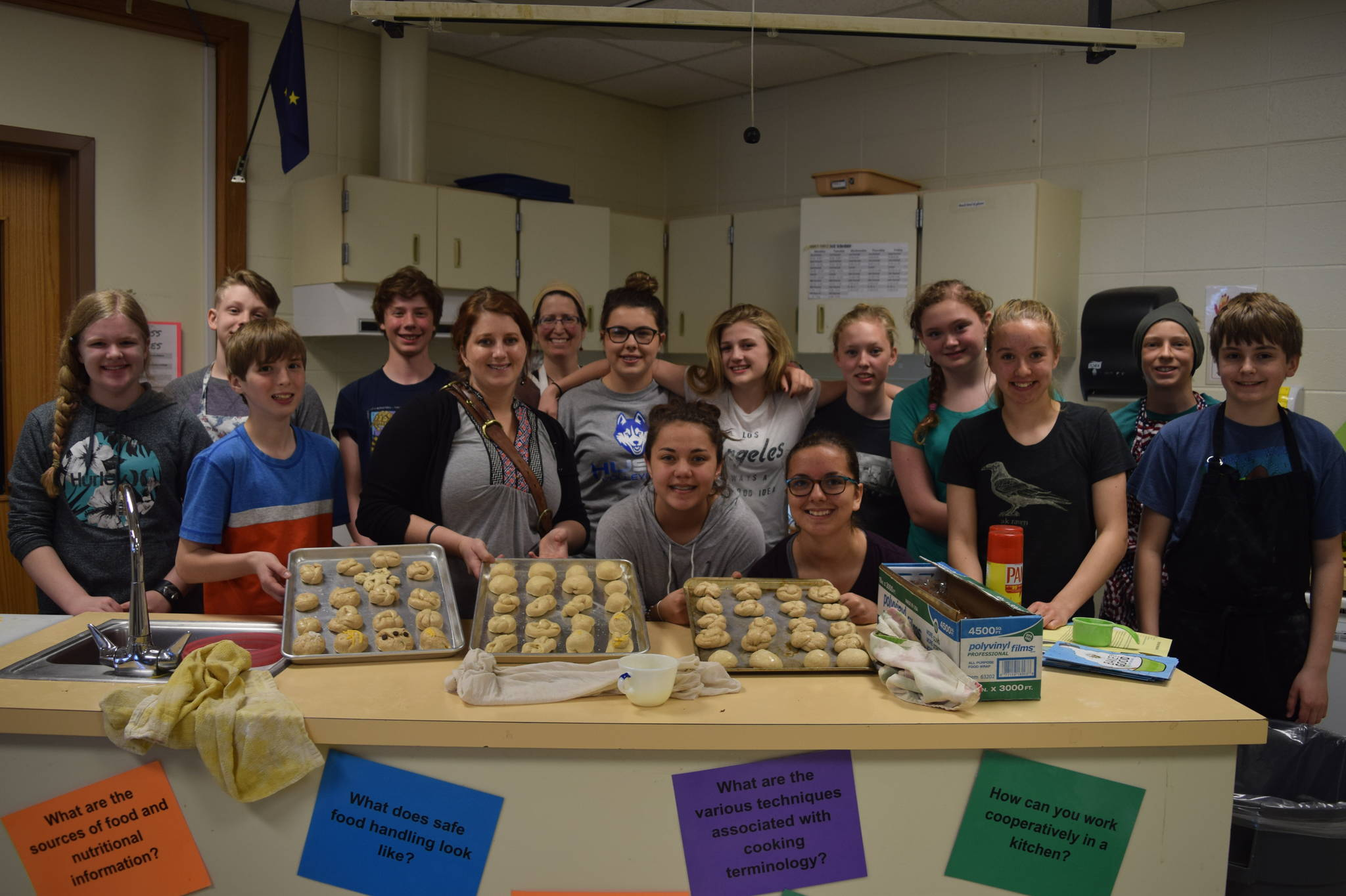 HMS students bake bread for learning, caring
