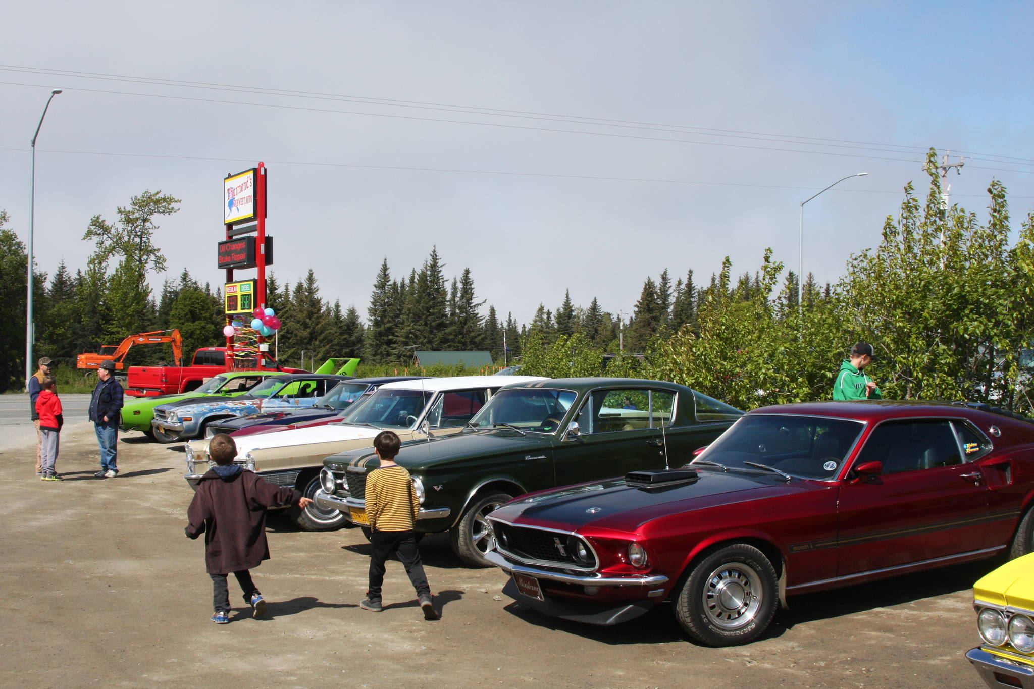 Local Anchor Point residents gather at Thurmond's Far West Auto for their fourth annual Customer Appreciation Day on Saturday, June 9 in Anchor Point, Alaska. (Photo by Delcenia Cosman)