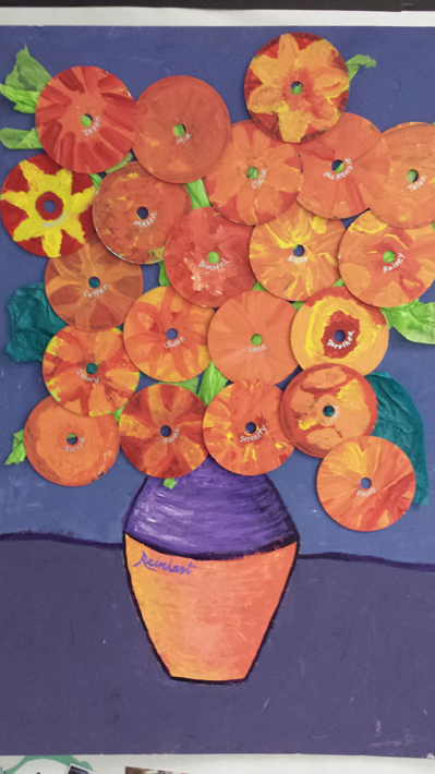 Student art is featured at Paul Banks Elementary School.-Photo provided