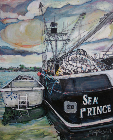 """Marjorie Scholl's """"Heavy Metal"""" paintings range from trucks to boats.-Photo provided"""
