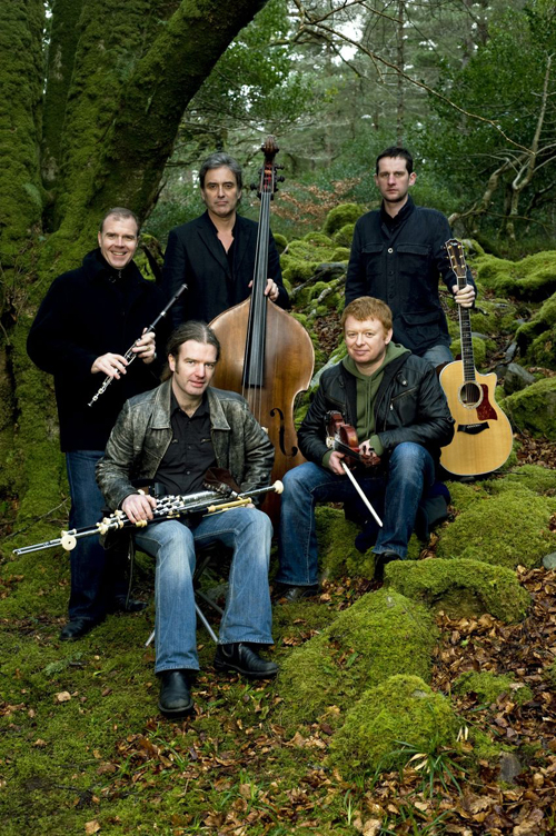 The members of Irish band Lúnasa perform at the Mariner Theatre on Feb. 8.-Photo provided
