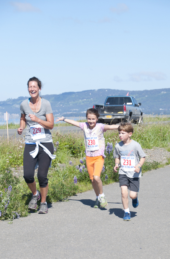 Peggy Leonard dresses up for the festivities of the Homer Spit Run on Saturday. -Photo by Heather Ericson
