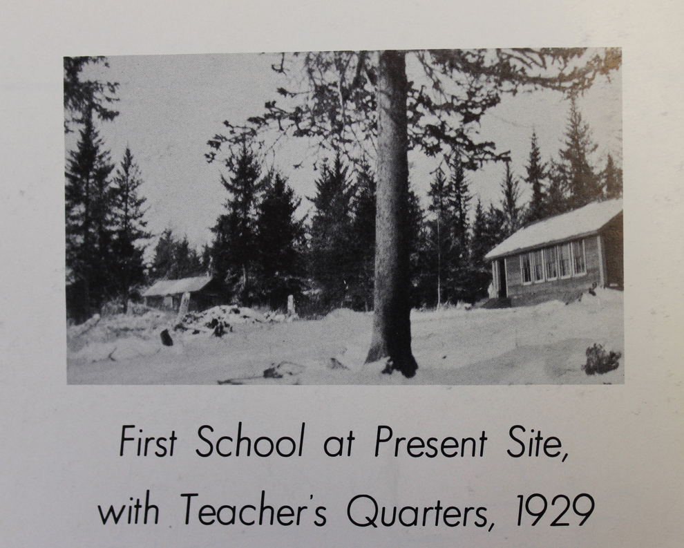 Homer's first school included teachers quarters.-Photos from 1964 Mariners Log