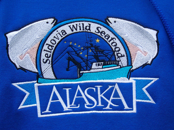 Seldovia Wild Seafood's logo is gaining recognition as decoration on sweatshirts.