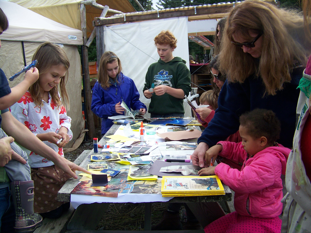 Youngsters prepare items to sell during Kids Vending Day at the Homer Farmers' Market from 11 a.m.-2 p.m. this Saturday.-Photo by McKibben Jackinsky, Homer News