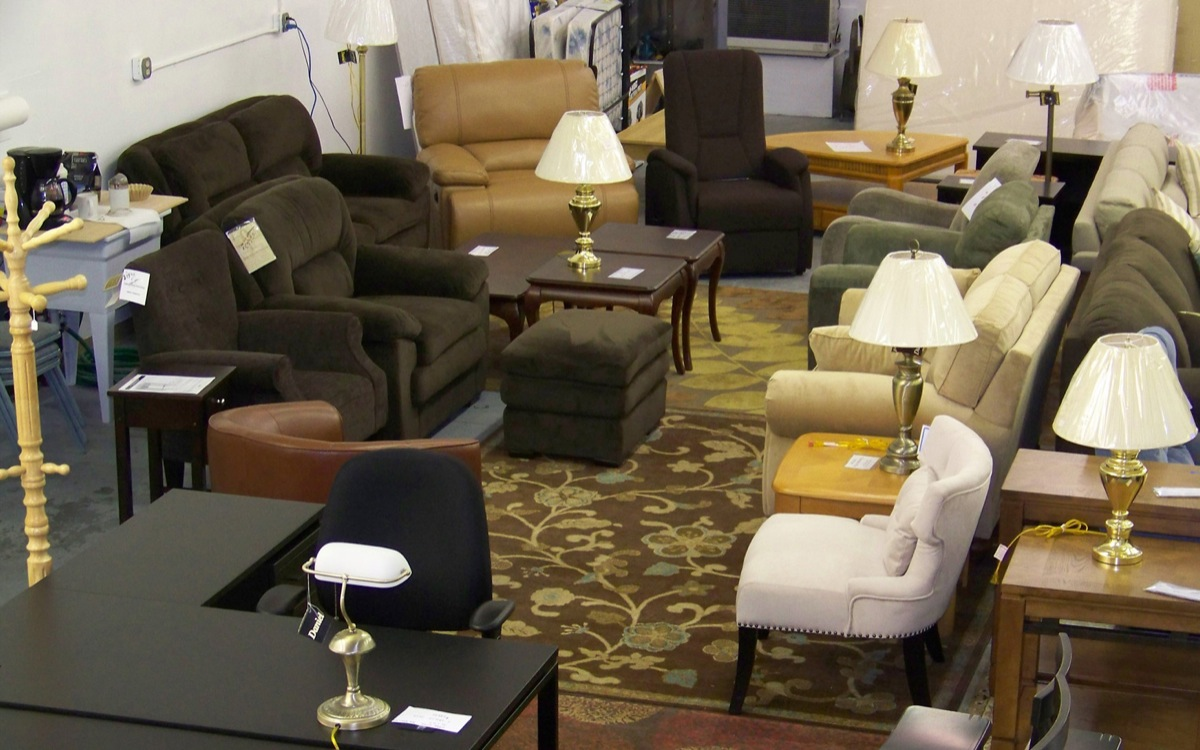 A new location and a warehouse-type layout gives plenty of room to shop at Eagle Furniture and Accessories.