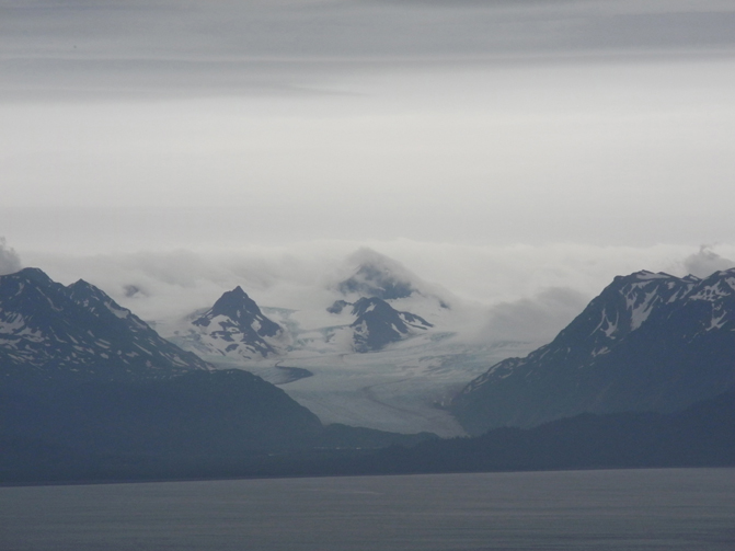Views of Grewingk Glacier can be seen from the trail.-Photo by Michael Armstrong, Homer News