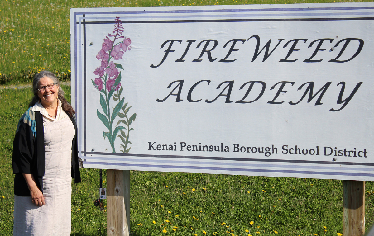 Fireweed Academy Principal Kiki Abrahamson retired at the close of the 2015-2016 academic year after 19 years with the school.-Photo by Anna Frost, Homer News
