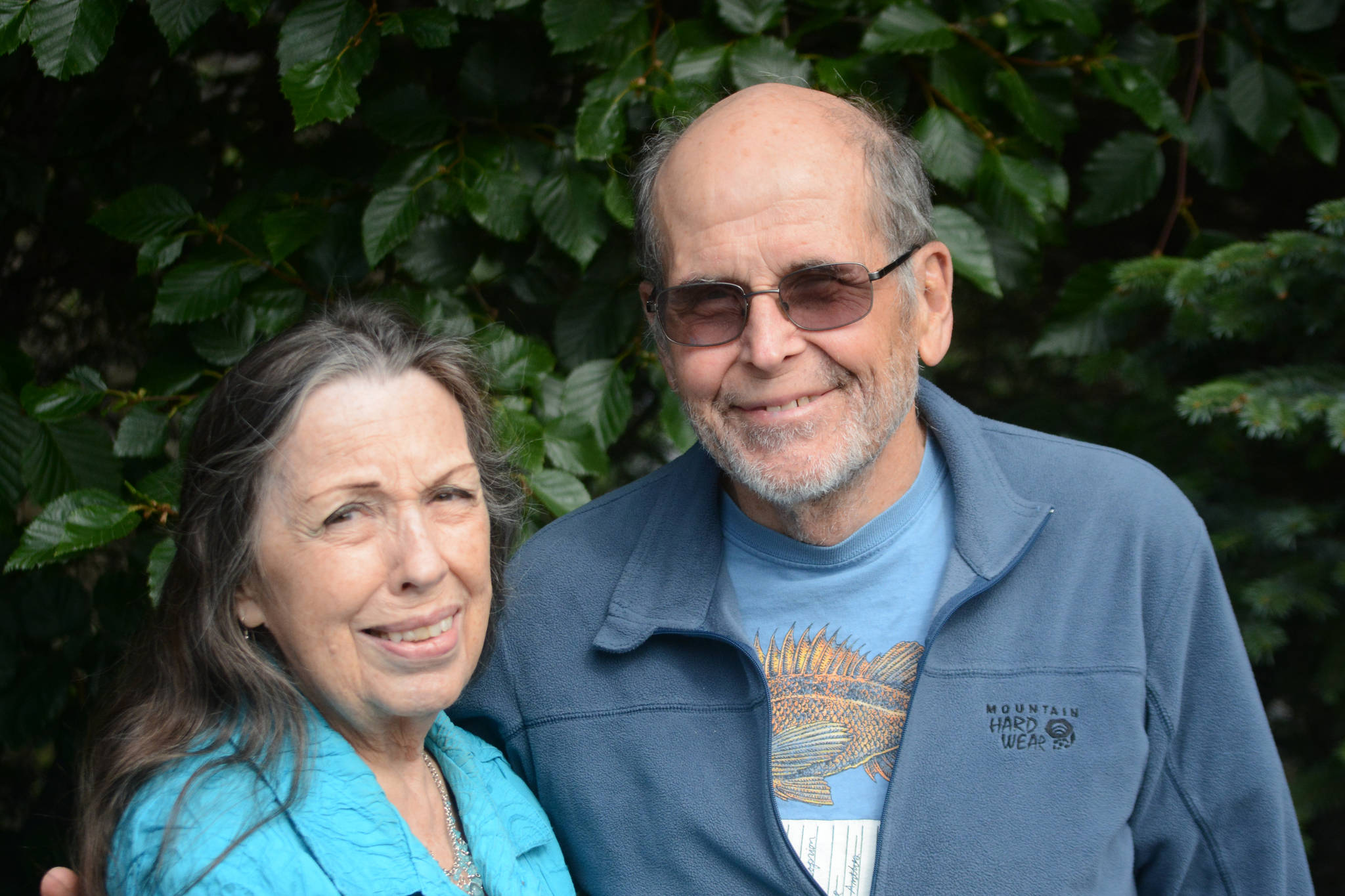 Joan Brown Dodd, left, and Doug Dodd pose for a photo at the Homer News on Tuesday, Aug. 7, 2018, in Homer, Alaska. (Photo by Michael Armstrong/Homer News)