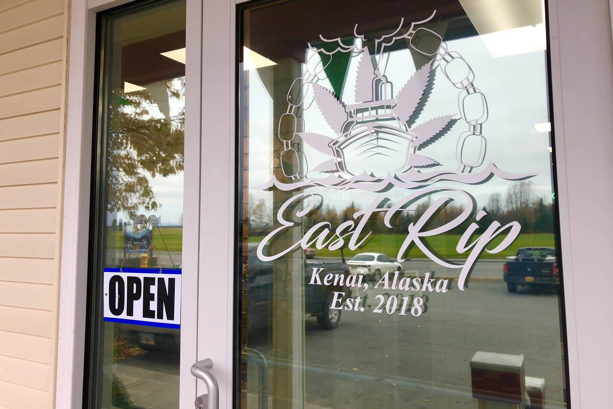 East Rip, a new Kenai marijuana shop, is photographed on Monday, Oct. 8, 2018, in Kenai, Alaska. (Photo by Victoria Petersen/Peninsula Clarion)