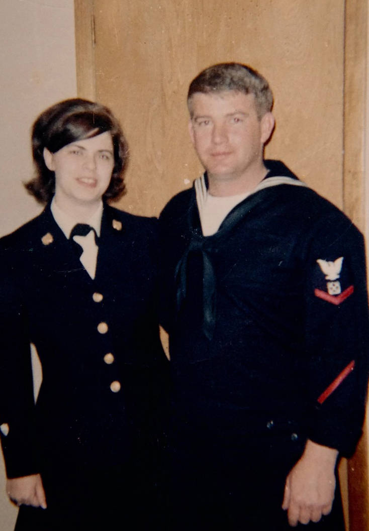 Kate and Ben Mitchell shortly before they got married on Nov. 4; 1967; at McCord Air Force Base in Tacoma; Washington. The Mitchells are in uniform for the U.S. Coast Guard. (Photo provided)