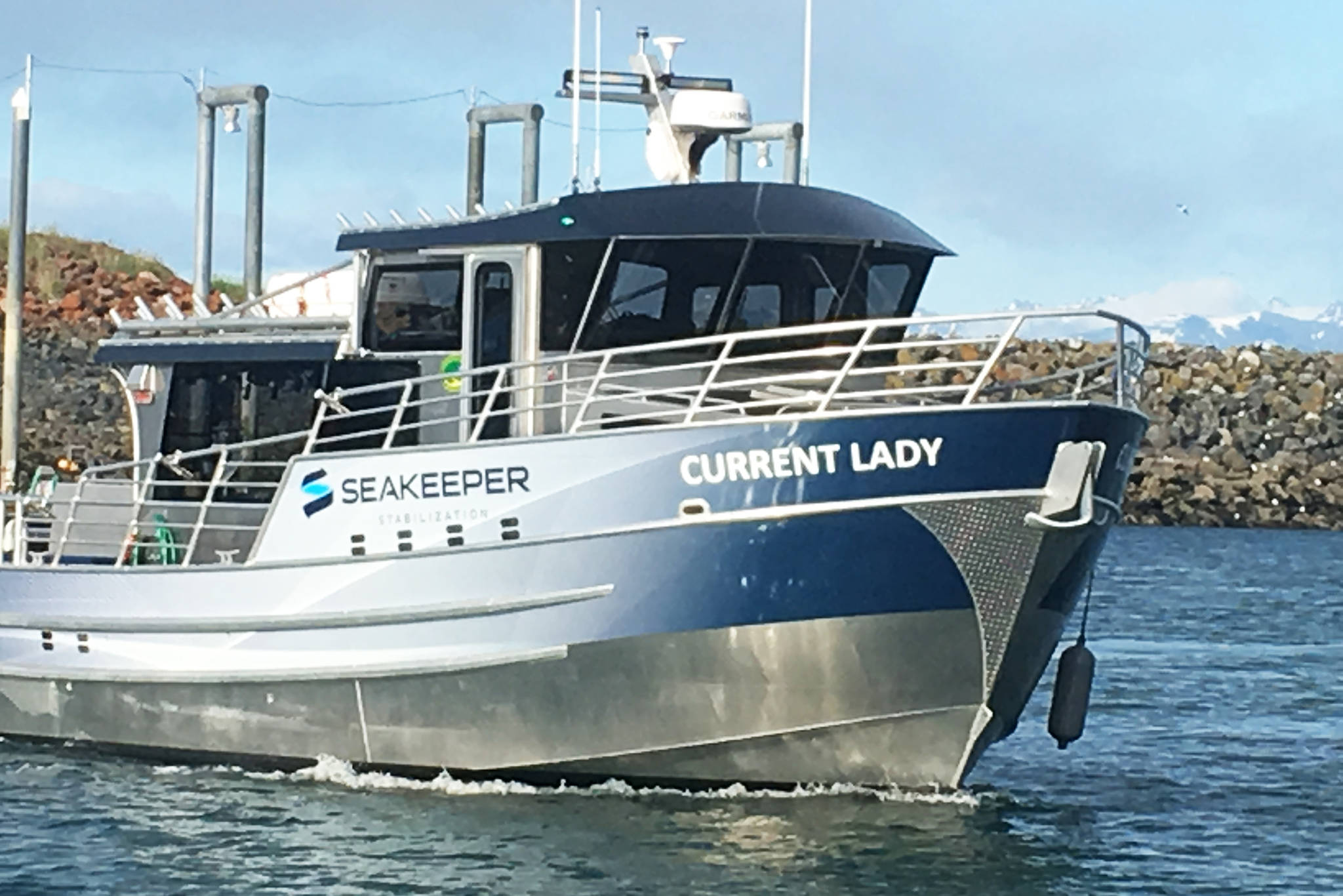 The Current Lady, shown here in this undated photo, is the new boat owned by Dakota Ocean Charters, a new charter business operating in Homer, Alaska. (Photo courtesy Shelly Loos)