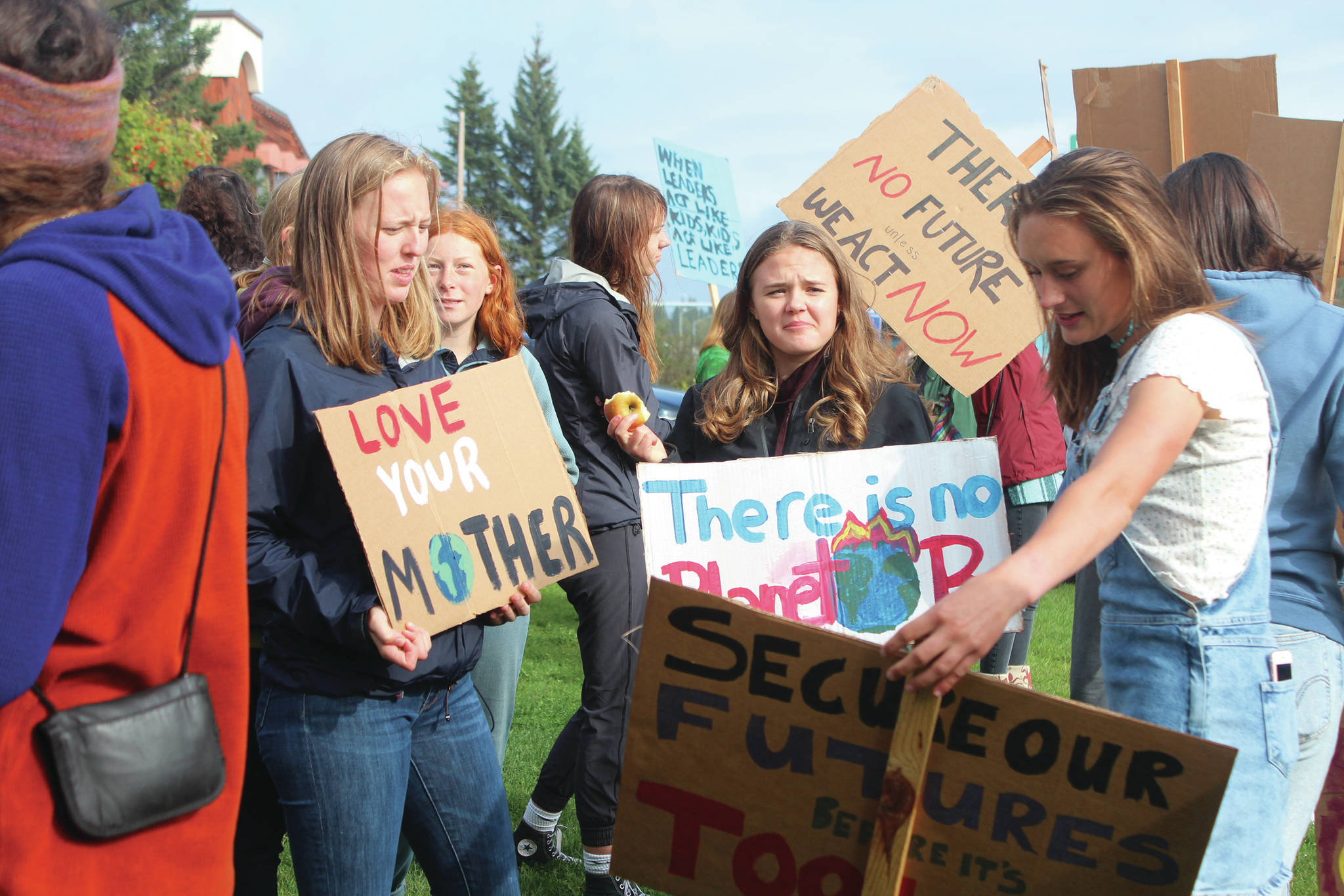 Homer students rally for climate change action