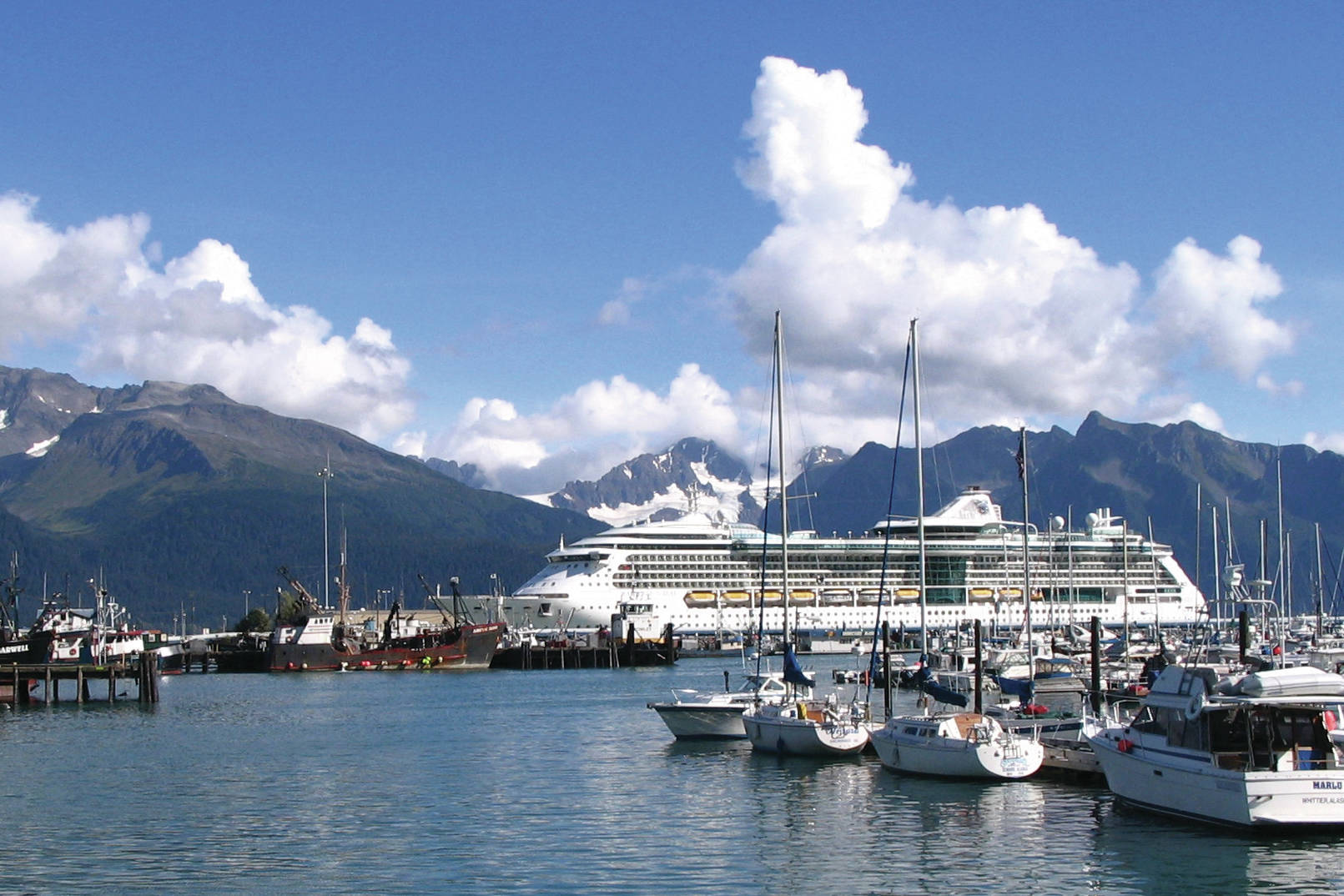 "AP Photo/Beth J. Harpaz, File                                  This Sept. 7, 2007, file photo shows Royal Caribbean's ""Radiance of the Seas"" docked in Seward, Alaska."