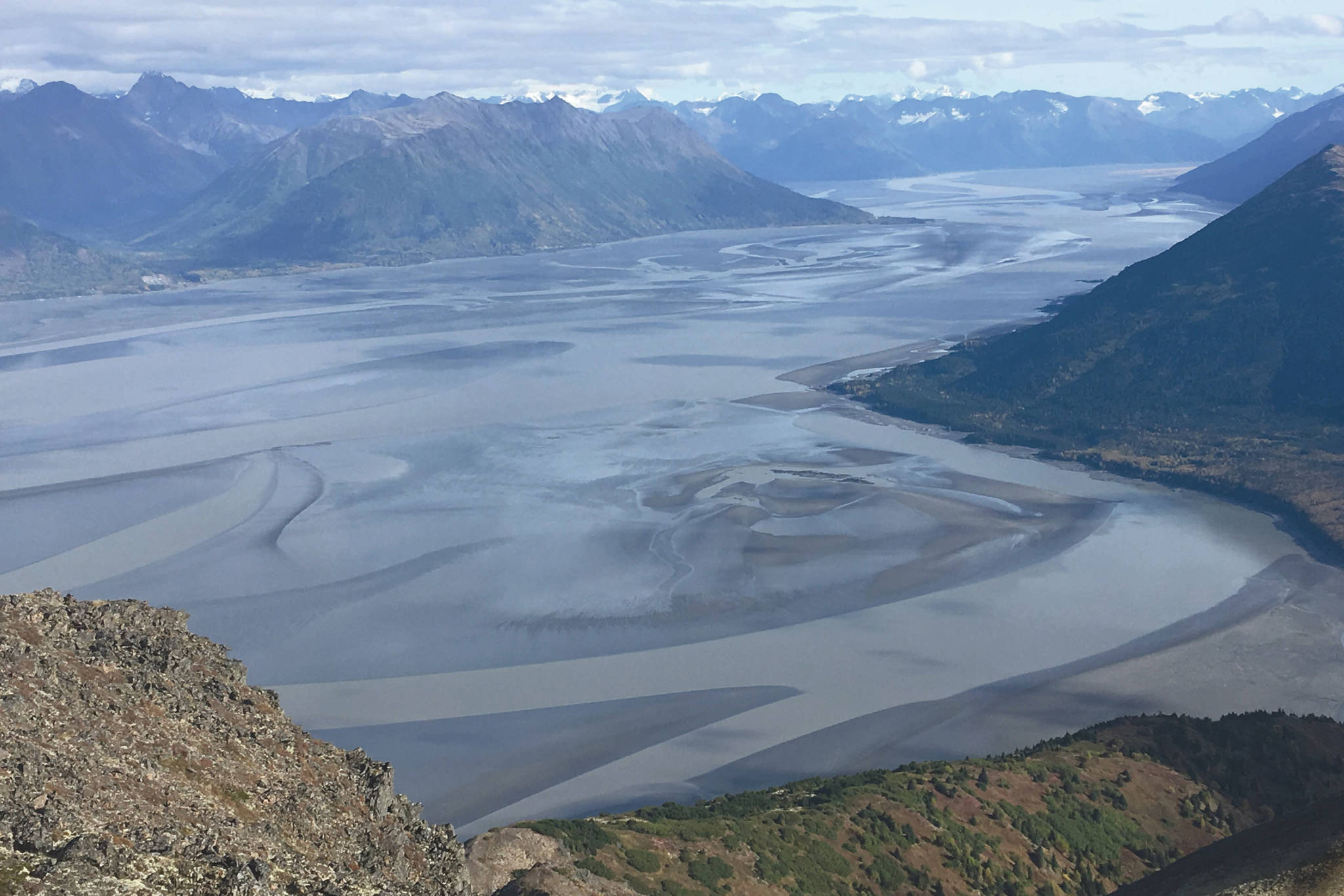 The view of Turnagain Arm, as seen from Hope Point in September 2018. Hope, Alaska, would be a good meeting place for a date once restrictions caused by the new coronavirus are lifted. (Photo by Jeff Helminiak/Peninsula Clarion)