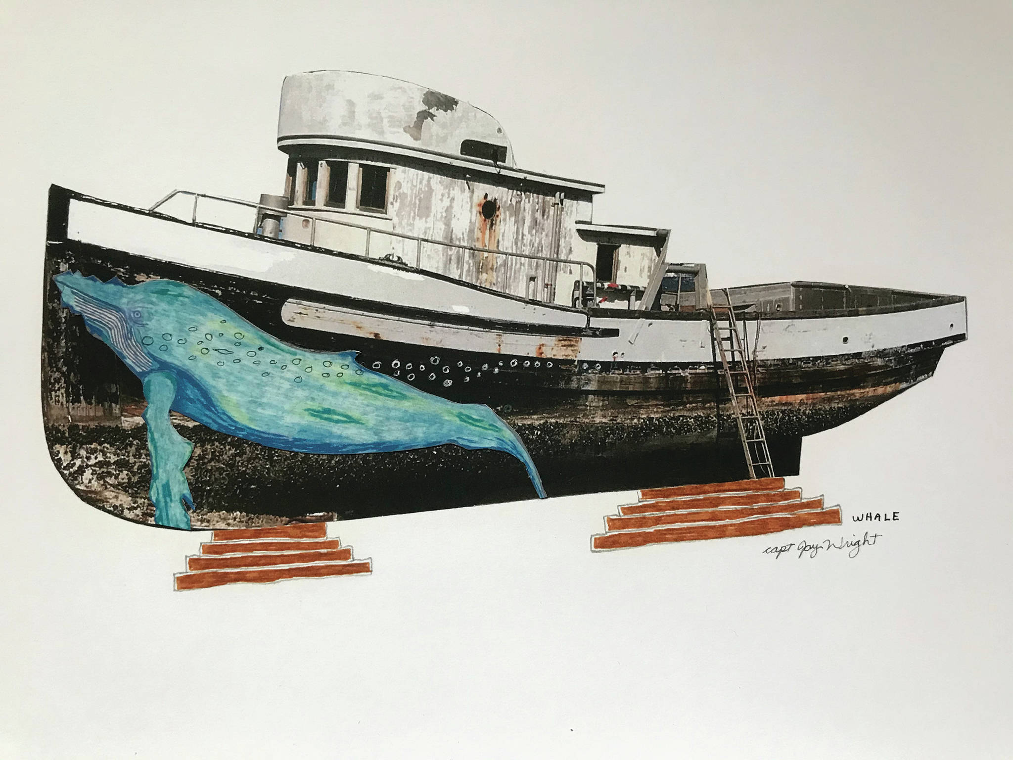 "Jay Wright's ""Whale"" is part of his exhibit opening Friday, Nov. 6, 2020, at Grace Ridge Brewery in Homer, Alaska. (Photo courtesy of Grace Ridge Brewery)"