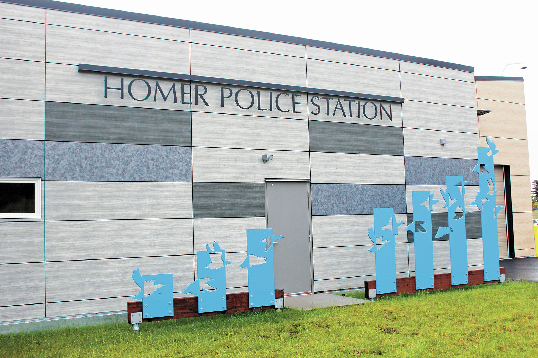 The Homer Police Station as seen Thursday, Sept. 24, 2020 in Homer, Alaska. (Photo by Megan Pacer/Homer News)