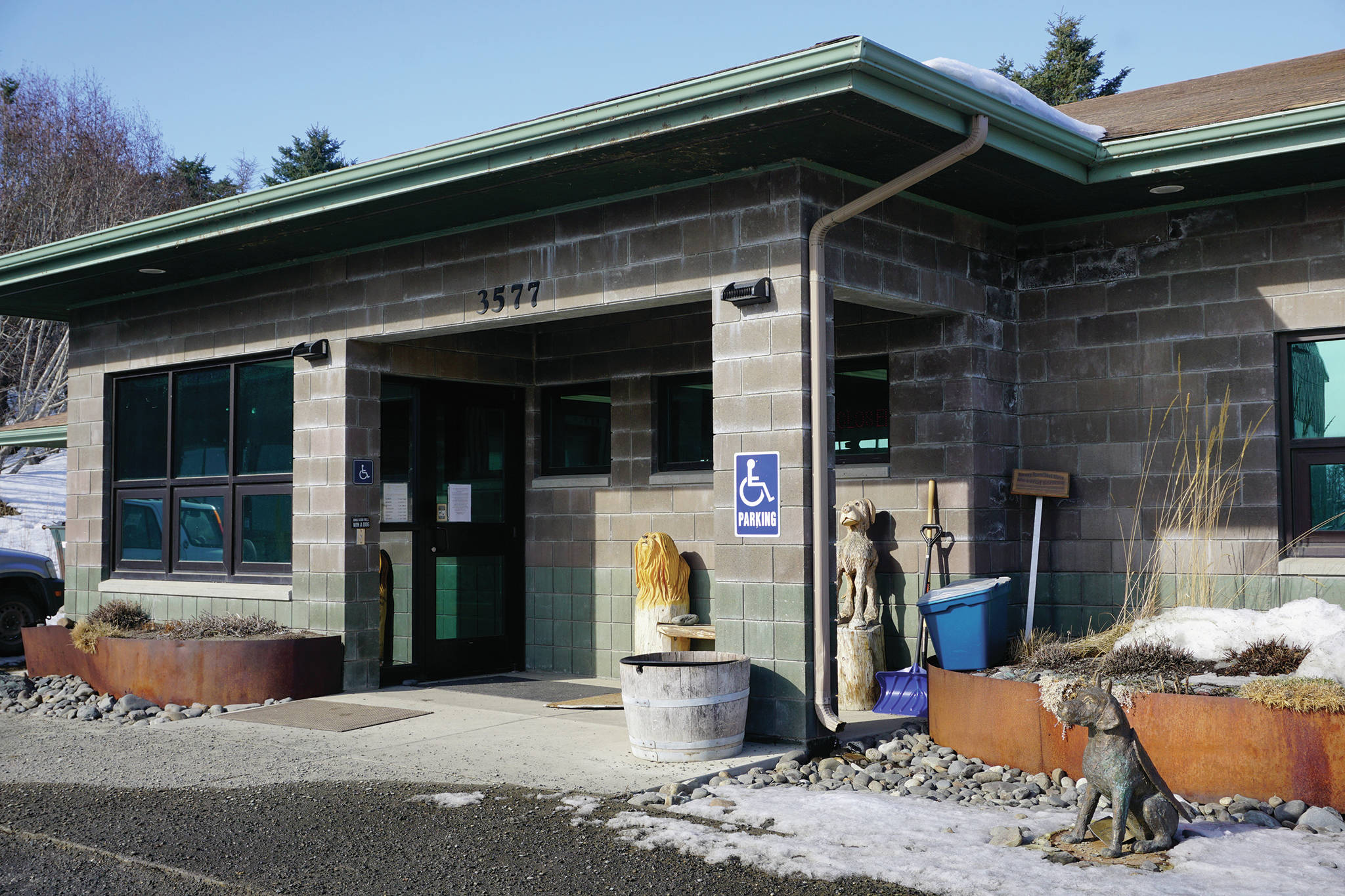 The Homer Animal Shelter on March 16, 2020, in Homer, Alaska. (Photo by Michael Armstrong/Homer News)