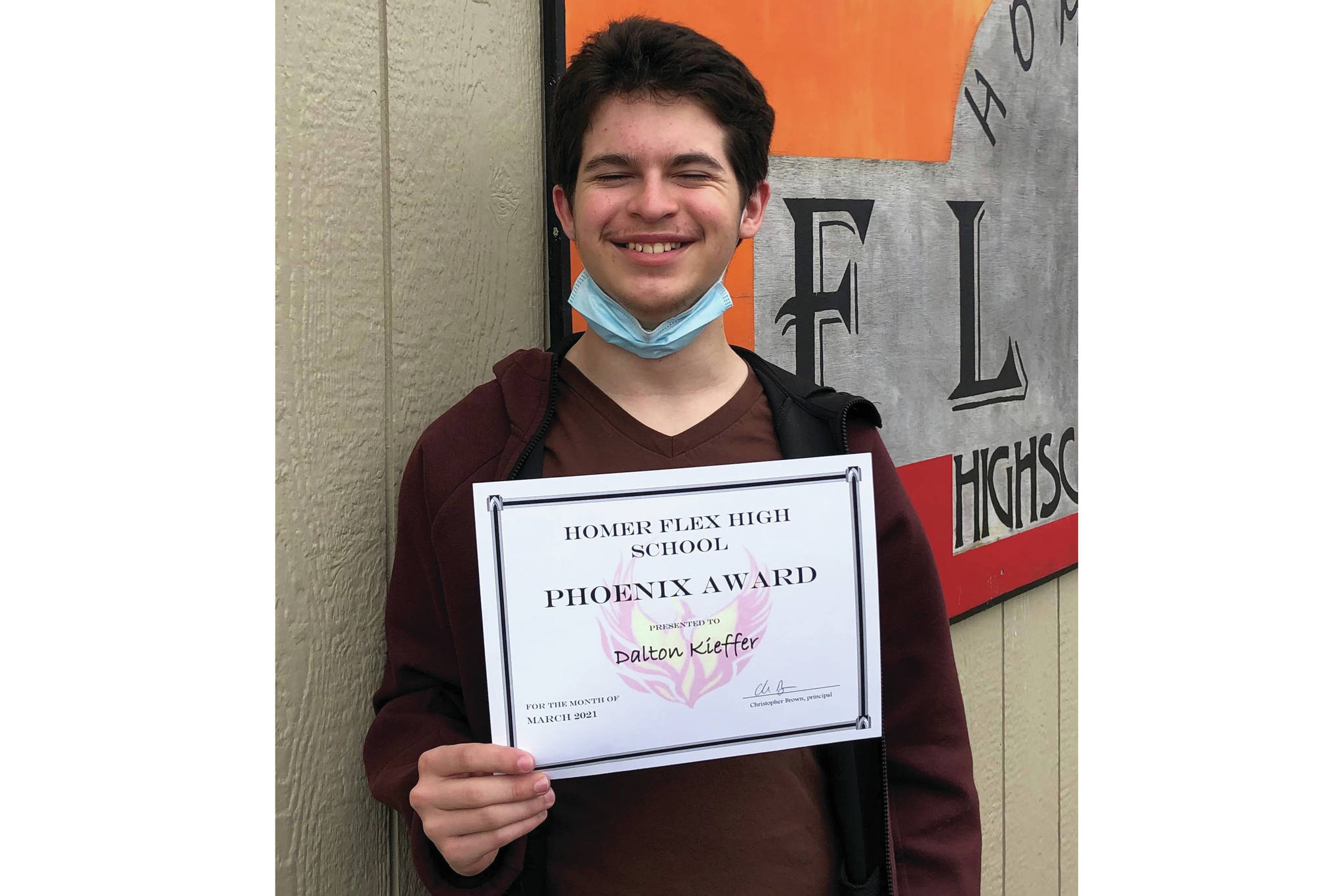 Dalton Kieffer, a Homer Flex High School junior, has been named the March recipient of the Flex Phoenix Award. Photo provided by Homer Flex High School.