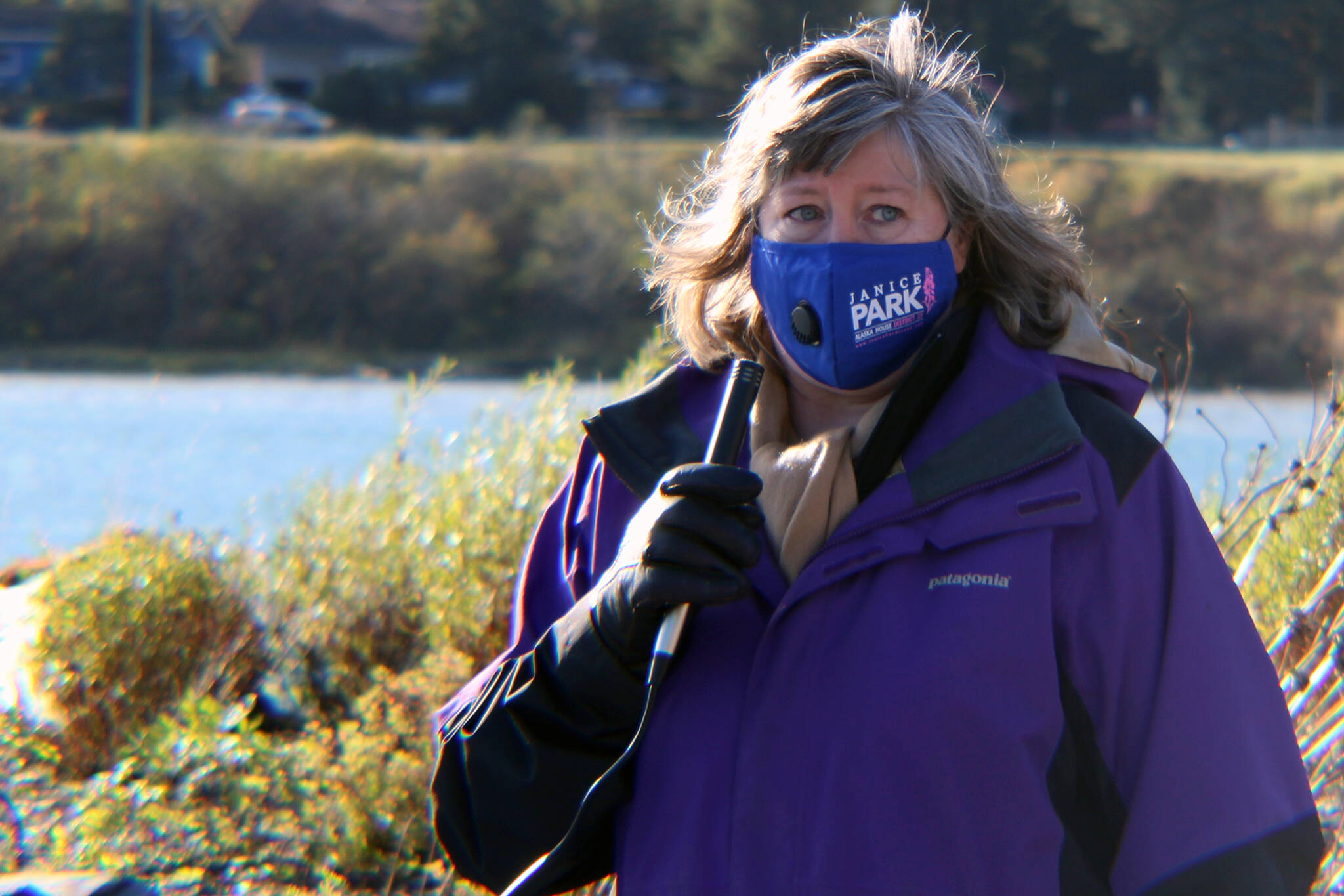 State Rep. Sara Hannan, D-Juneau, participate's in an October 2020 march and rally. Hannan on Monday apologized for comments made during a state House of Representatives floor session in which she suggested Nazi medical experiments led to gained knowledge. ((Ben Hohenstatt / Juneau Empire File)