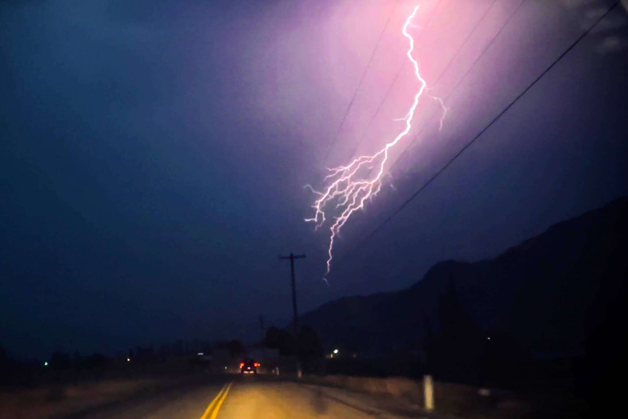 A thunderstorm is seen Aug. 3, 2021, in Okanogan County, Washington. (Kathryn Knowlton/submitted photo)